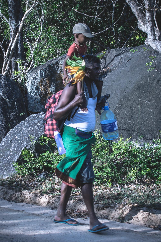 Father and Son at pada yatra
