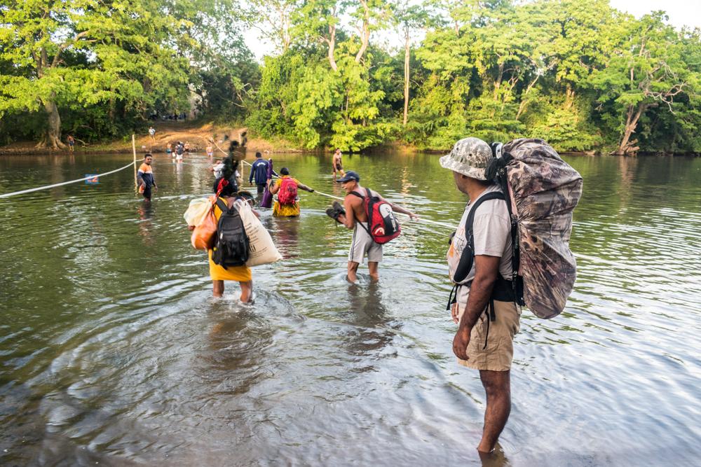 Water Cross at Pada Yatra