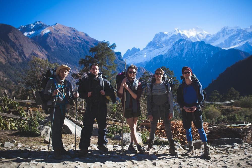 Team of hikers